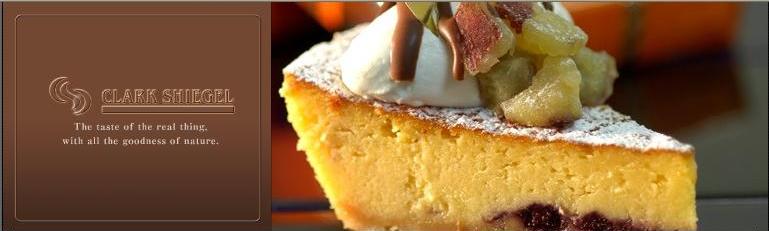 サワークリームチーズケーキ焼いているけど半生のふわとろケーキ♪別名「チーズグラタン」